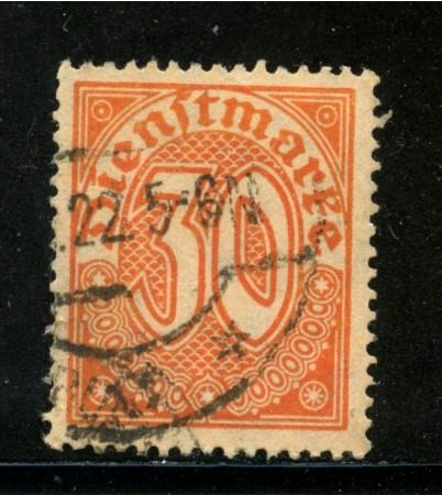 1920/21 - GERMANIA REICH SERVIZI - 30p. ARANCIO - USATO - LOTTO/29242