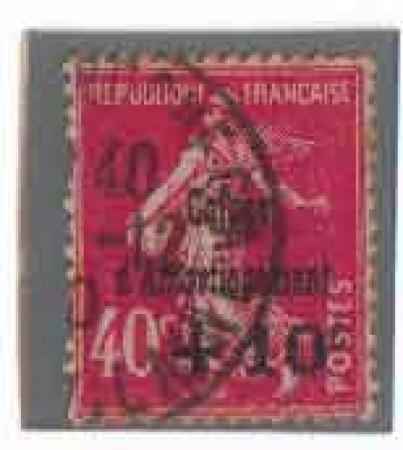 1930 - LOTTO/FRA266U - FRANCIA - +10 SU 40c. CASSA D'AMMORTAMENTO - USATO
