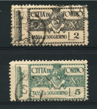 1943/45 - LOTTO/12553 - CITTA DI TORINO - 2/5 LIRE TASSA DI ...