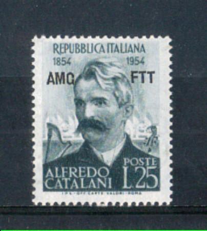 1954 - LOTTO/10384N - TRIESTE A - 25 LIRE ALFREDO CATALANI NUOVO