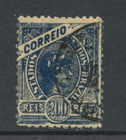 1900 - BRASILE - 200r. BLU  - USATO - LOTTO/28835