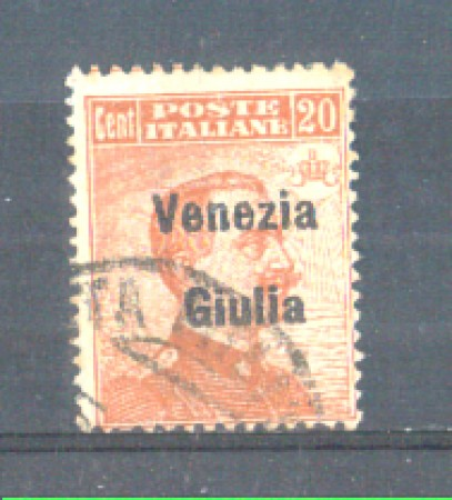 1918/19 - LOTTO/VNG23U - VENEZIA GIULIA - 20c. ARANCIO USATO