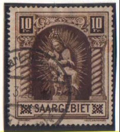 1925 - LOTTO/3060  -SARRE - 10 Fr. MADONNA - USATO