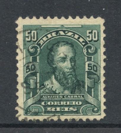 1906 - BRASILE - 50r. ALVARES CABRAL - USATO - LOTTO/28840