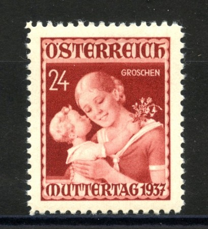 1937 - AUSTRIA - GIORNATA DELLA MADRE  NUOVO - LOTTO/34050