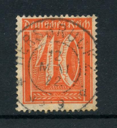 1921 - LOTTO/17748 - GERMANIA REICH - 40p.  ROSSO ARANCIO - USATO