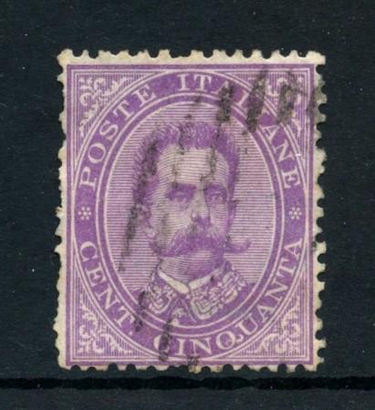 1879 - REGNO - 50 cent. VIOLETTO RE UMBERTO I° - USATO - LOTTO/26432