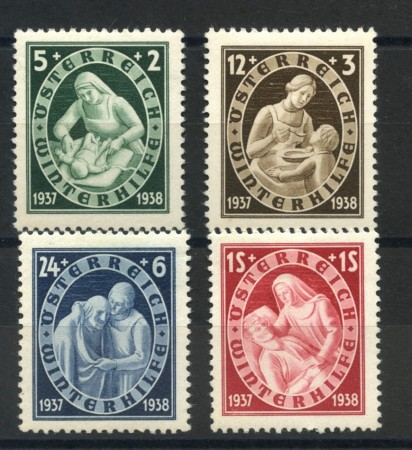 1937 - AUSTRIA - SOCCORSO INVERNALE 4v. NUOVI - LOTTO/34048