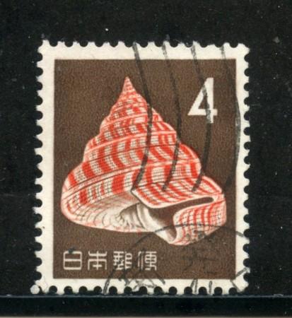 1962/65 - GIAPPONE - 4 y. POSTA ORDINARIA CONCHIGLIA - USATO - LOTTO/29819