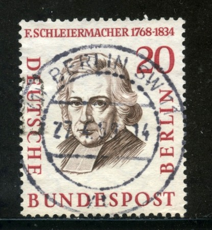 1957/59 - BERLINO - 20p. SCHLEIERMACHER - USATO - LOTTO/29233