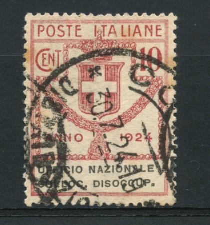1924 - LOTTO/16526 - REGNO - 10 CENT. COLLOCAMENTO DISOCCUPATI - USATO