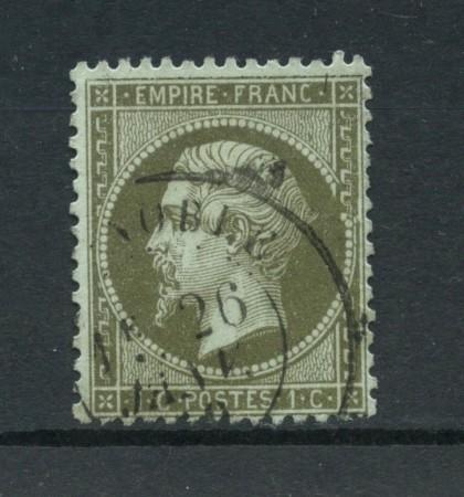 1862 - FRANCIA - 1 cent. VERDE NAPOLEONE - USATO - LOTTO/12374