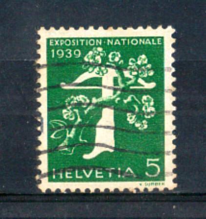 1939 - LOTTO/SVI329U - SVIZZERA - 5c. ESPOSIZIONE DI ZURIGO (FRANCESE) - USATO