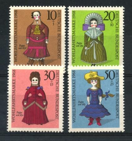 1968 - GERMANIA FEDERALE - BENEFICENZA BAMBOLE  4v. - NUOVI - LOTTO/30952