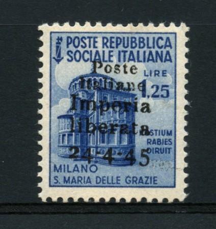 1945 - LOTTO/15202 - CLN IMPERIA - 1,25 LIRE MONUMENTI DISTRUTTI - NUOVO