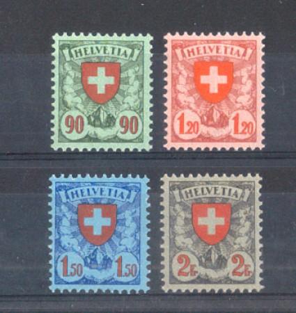 1924 - LOTTO/10611CPN - SVIZZERA -  CROCE E SCUDO 4v. - NUOVI