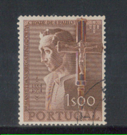 1954 - LOTTO/9754AU - PORTOGALLO - 1e. M.NOBREGA - USATO
