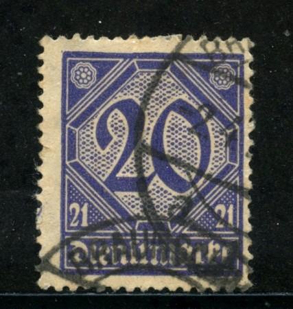1920 - GERMANIA REICH SERVIZI - 20p. VIOLETTO - USATO - LOTTO/29238