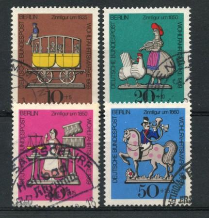 1969 - LOTTO/15533U - BERLINO - BENEFICENZA FIGURINE 4v. - USATI