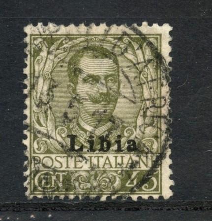 1917/1918 - LIBIA - LOTTO/24964A - 45 CENTESIMI VITTORIO EMANUELE III° - USATO