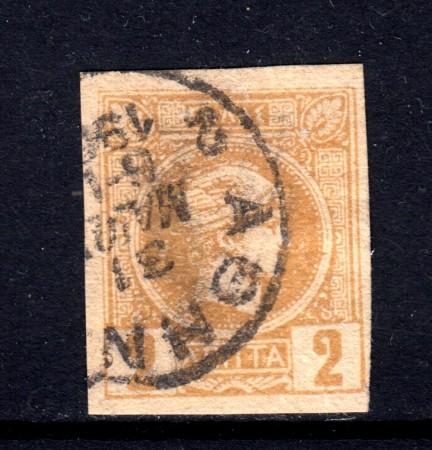 1889/99 - GRECIA - 2 l. BISTRO - USATO - LOTTO/32105