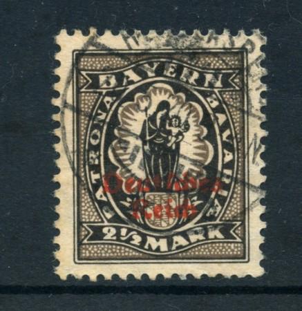 1920 - LOTTO/17839 - GERMANIA REICH - 2,5m. NERO - USATO