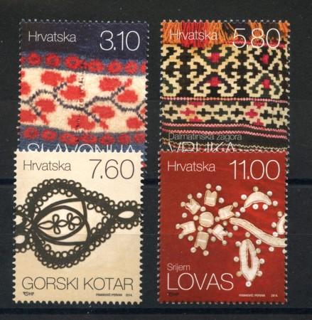 2014 - CROAZIA - TESSUTI  4v. - NUOVI - LOTTO/33220