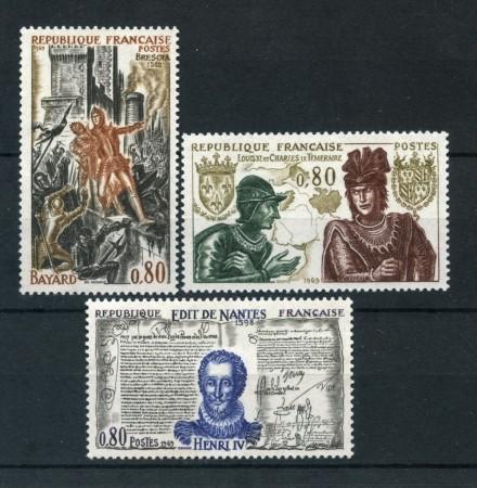 1969 - FRANCIA - STORIA DI FRANCIA 3v. - NUOVI - LOTTO/25982