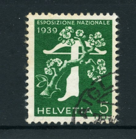 1939 -LOTTO/22840 - 5 cent. EXPO ZURIGO ITALIANO - USATO