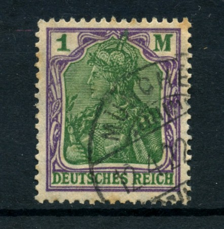 1920 - LOTTO/17737 - GERMANIA - 1 M. VIOLETTO VERDE - USATO