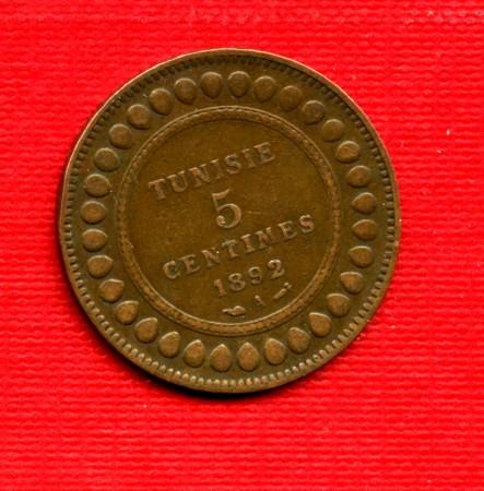 MONETE TUNISIA - 1892 - LOTTO/M22526 - 5 CENTESIMI MUHAMMAD ALI- BEY