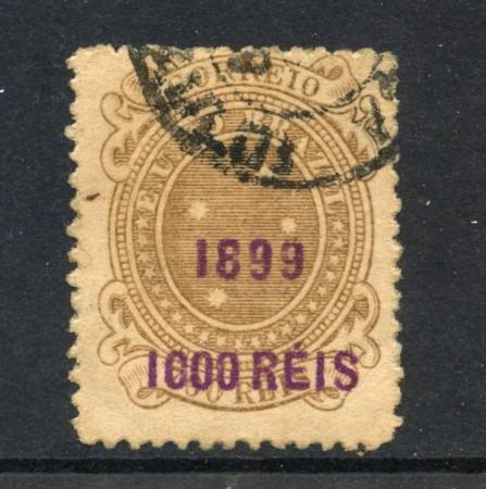1899 - BRASILE - 1000 SU 700 r. SOPRASTAMPATO - USATO - LOTTO/28829