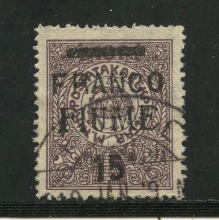 1919 - FIUME - CASSA DI RISPARMIO 15 SU10 f. - USATO - LOTTO/31615