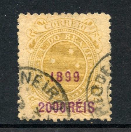 1899 - BRASILE - 2000 SU 1000 r. SOPRASTAMPATO - USATO - LOTTO/28831