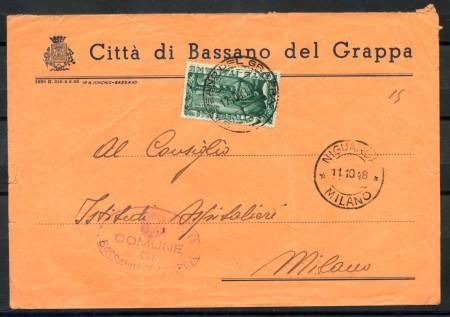 1948 - REPUBBLICA - PONTE DI BASSANO SU BUSTA PER MILANO - LOTTO/28284