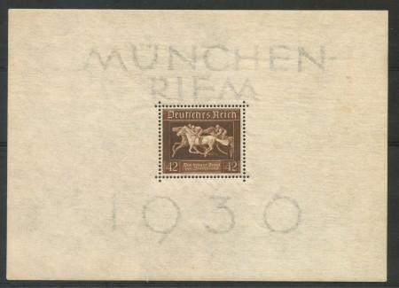 1936 - GERMANIA REICH - CORSA IPPICA - FOGLIETTO LINGUELLATO - LOTTO/29504