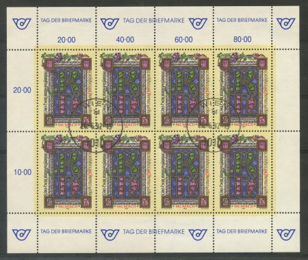 1992 - AUSTRIA - GIORNATA DEL FRANCOBOLLO - MINIFOGLIO USATO - LOTTO/29501