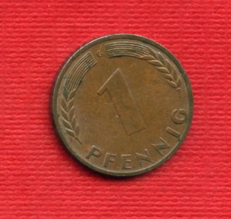1950G - LOTTO/M23281 - GERMANIA - 1 PFENNIG ZECCA G