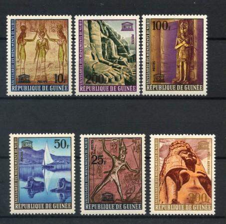 1987 - GUINEA REPUBBLICA - MONUMENTI DELLA NUBIA 6v - NUOVI - LOTTO/20340