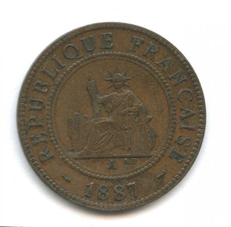 1887 - INDOCINA FRANCESE - 1 CENT. BRONZO