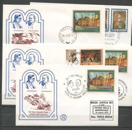 1979 - ITALIA - BELLUNO - VISITA DI S.S. GIOVANNI PAOLO II° - 5 BUSTE - LOTTO/31163