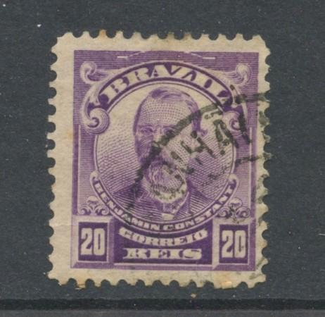 1906 - BRASILE - 20r. B.CONSTANT - USATO - LOTTO/28839