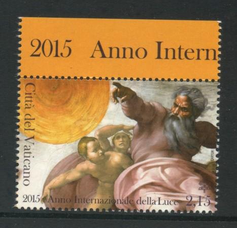 2015 - VATICANO - ANNO DELLA LUCE 1v. - NUOVO - LOTTO/30709