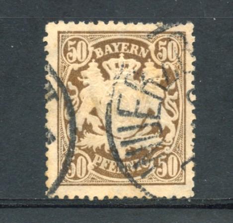 BAVIERA - 1888 - LOTTO/21860 - 50 p. BRUNO - USATO