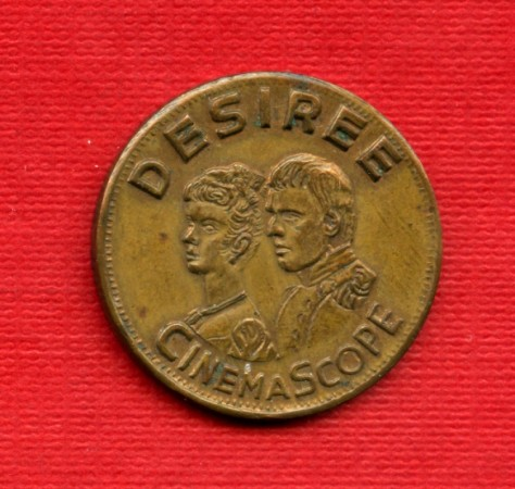 1954 - DESIRE CINEMASCOPE - LOTTO/21179 -  GETTONE  CINEMA POLITEAMA