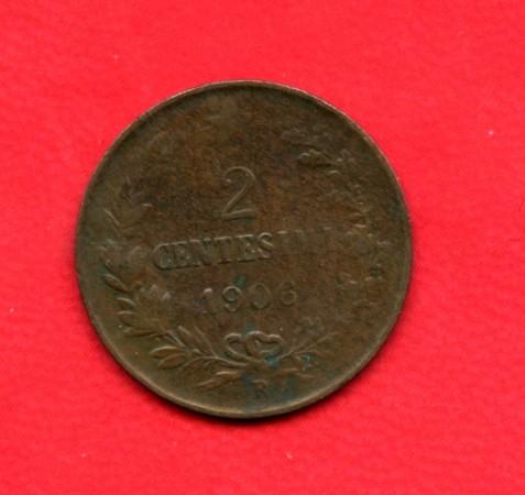 1906 - REGNO D'ITALIA - 2 centesimi VITTORIO EMANUELE III° - LOTTO/M25582