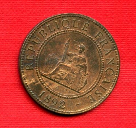 1892 - LOTTO/M21148 - INDOCINA FRANCESE - 1 cent. BRONZO