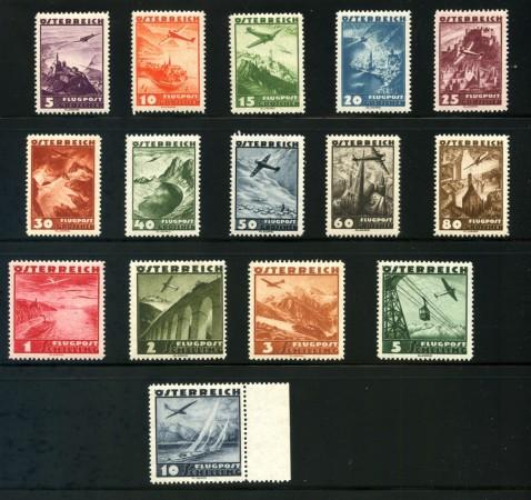 1935 - AUSTRIA - POSTA AEREA 15 v. NUOVI - LOTTO/34043