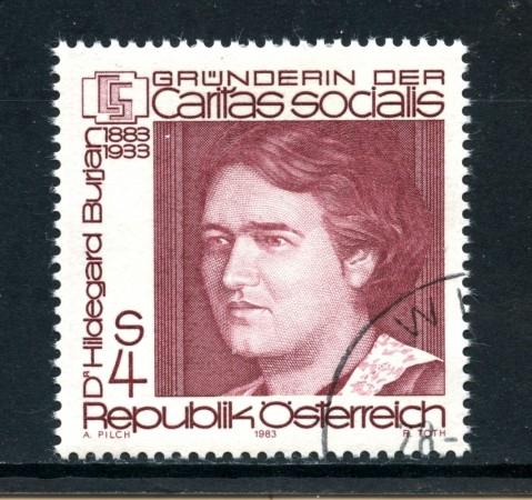 1983 - AUSTRIA - HILDEGARD BURJAN - USATO - LOTTO/28286