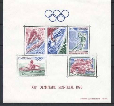 1976 - MONACO - OLIMPIADI DI MONTREAL FOGLIETTO - NUOVO - LOTTO/4376